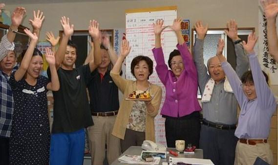 加賀市議選ばんざい